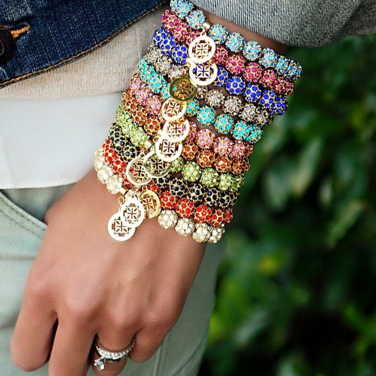 These gorgeous Rustic Cuff Kennedy beaded bracelets are sure to receive compliments every time you wear them. The 14 available colors of Shamballa beads are set in a pavé design in three different met