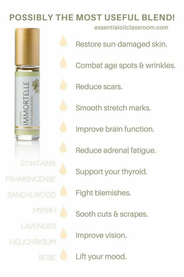 doTERRA Anti-Age Immortelle Blend many benefits