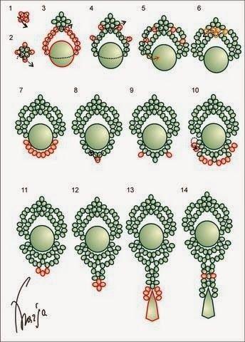image.jpg (344×480) earrings, joining = bracelet or necklace:)