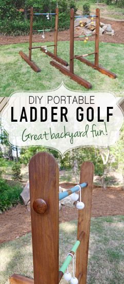 Portable DIY Wooden Ladder Golf -