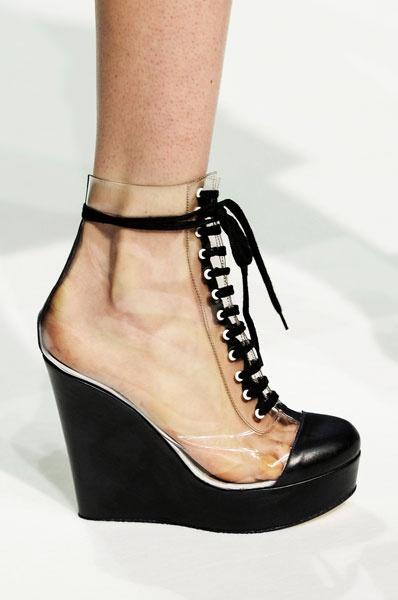 Split Front Fur Trim Shoe Boots