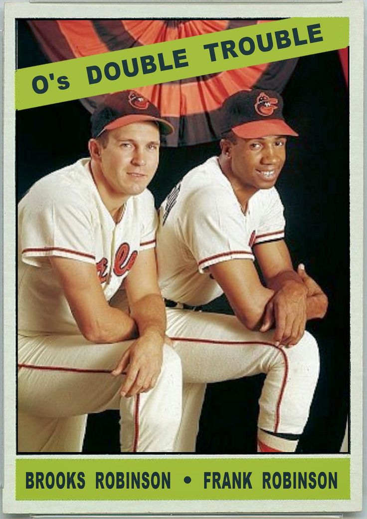 1966 Topps O's Double Trouble, Brooks Robinson, Frank Robinson, Baltimore Orioles, Baseball Cards That Never Were