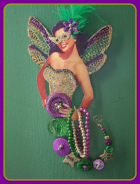 Mardi Gras Button fairy