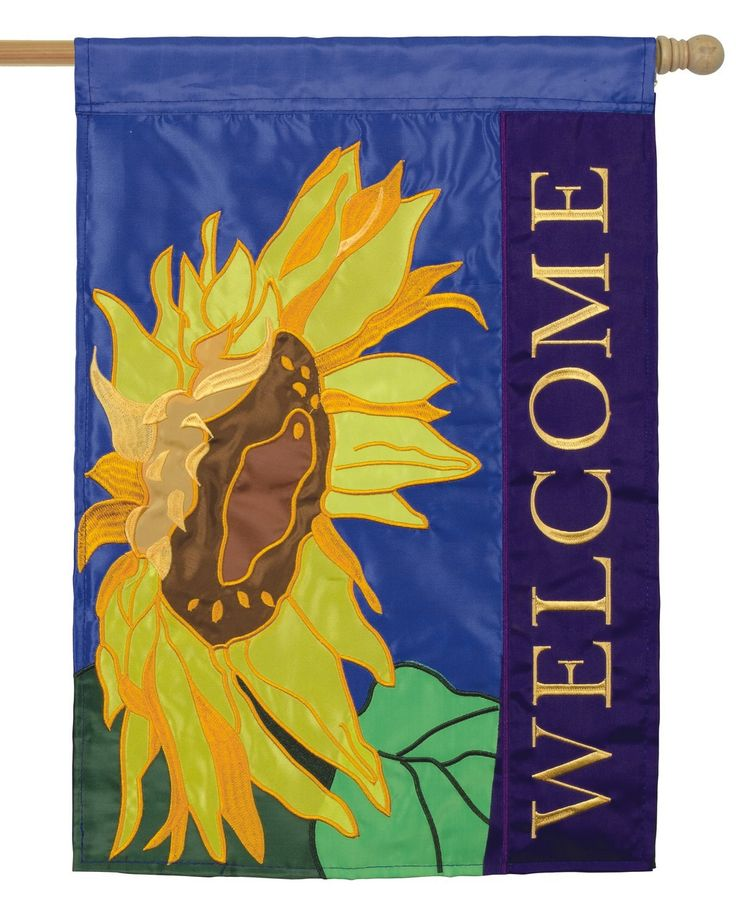 Superb IAmEricas Flags   Sunflower Welcome Double Applique House Flag, $33.00  (http://