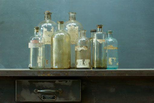 Vintage bottles.