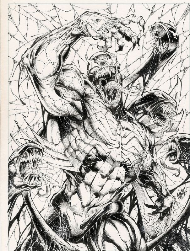 Venom Bursts Free - Nar, in Eric Wilkinson's Nar Comic Art Gallery Room - 988475