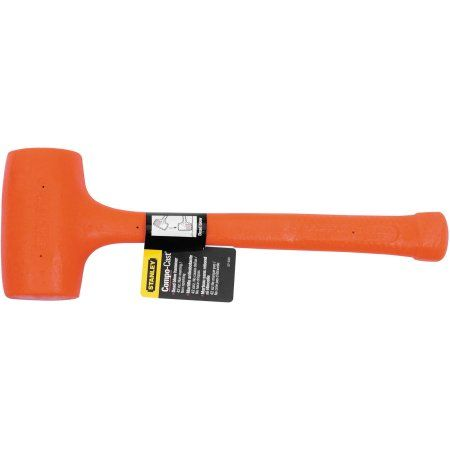 Stanley Tools Compo-Cast Soft Face Dead-Blow Mallet, 42oz, Forged Steel Handle, Multicolor