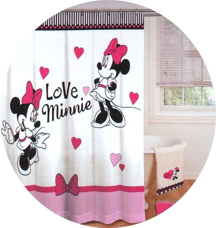 17 Best Images About Disney Mickey Mouse Shower Curtain And Bath Accessories On Pinterest