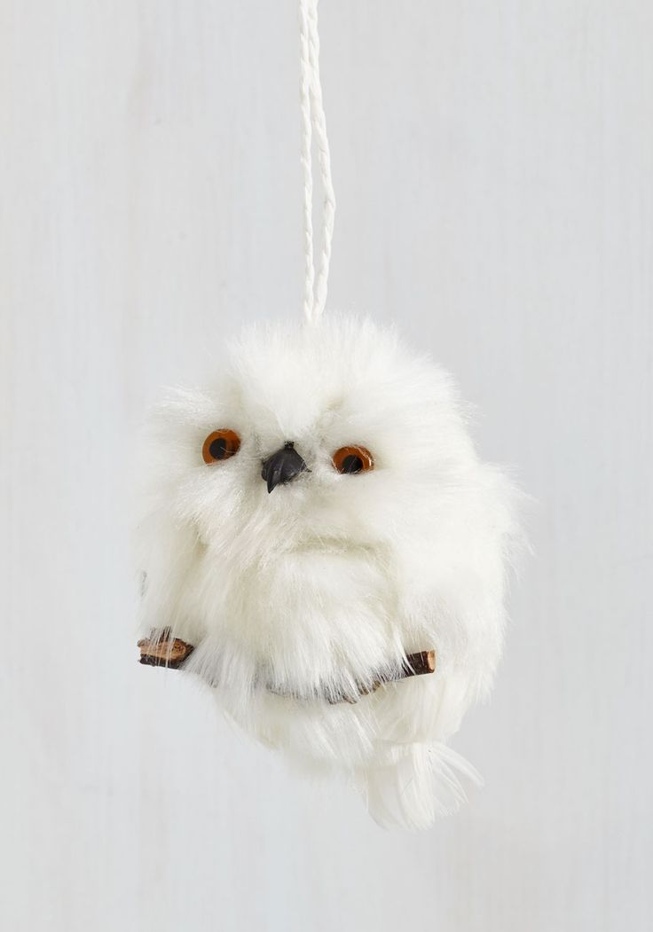 Forest to Arrive Ornament in Owl - White, Holiday, Owls, Critters, Woodland Creature, Good, Gifts2015, Variation