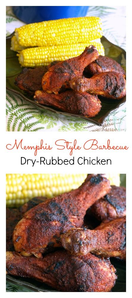 Memphis Style Barbecue Dry-Rubbed Chicken