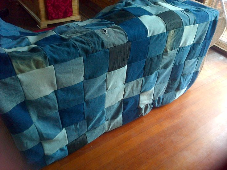 And another upcycled Denim comforter completed.