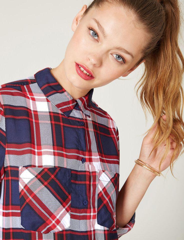 chemise à carreaux rouges, bleues et blanches - http://www.jennyfer.com/fr-fr/vetements/chemises/chemise-a-carreaux-rouges-bleues-et-blanches-10015816015.html