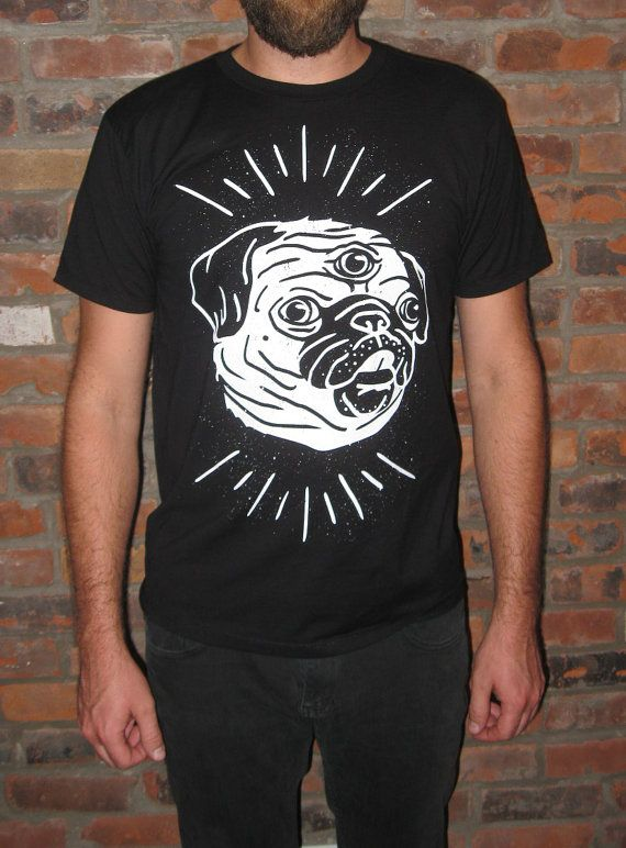 Pug t-shirt! Unisex Karolina Von Limor new brand from Quebec City! Ship worldwide