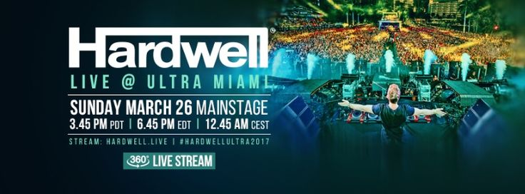 Ultra Miami Festival Presents Hardwell Livestream In 360 Degrees: Following on from Revealed Recordings 360 livestream at Nikki Beach…
