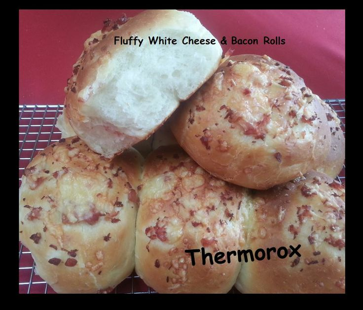 Thermorox Rolls thanks to my Thermomix  http://www.recipecommunity.com.au/recipes/vitamin-c-fluffy-white-cheese-bacon-rolls/135390