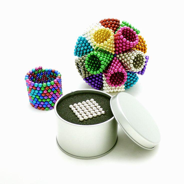 Wholesale 3mm 5mm cube magnetic balls 216Pcs metal box packing