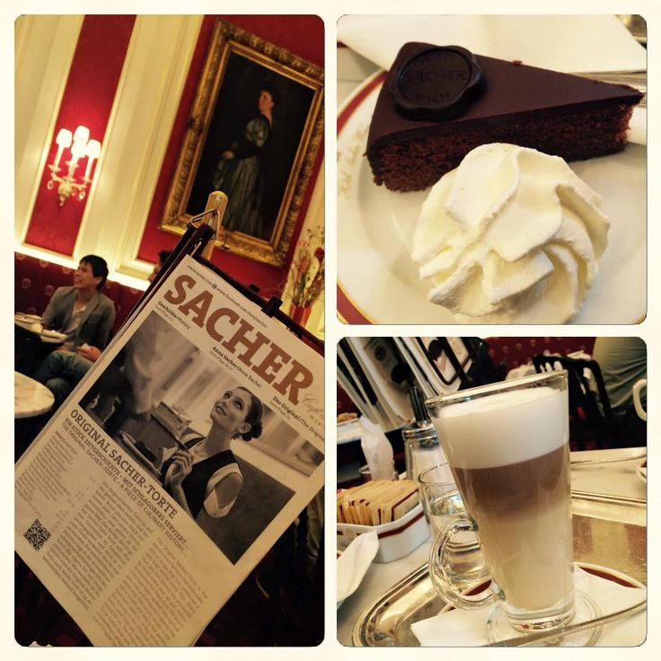 CAFE SACHER - while visiting Viena, you cannot pass this typical coffee-place with world-known SACHER-cake... you will probably meet this cake on many other places in whole Europe...but there is just one original...
