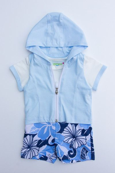 Super cute baby summer onesie perfect for the beach!