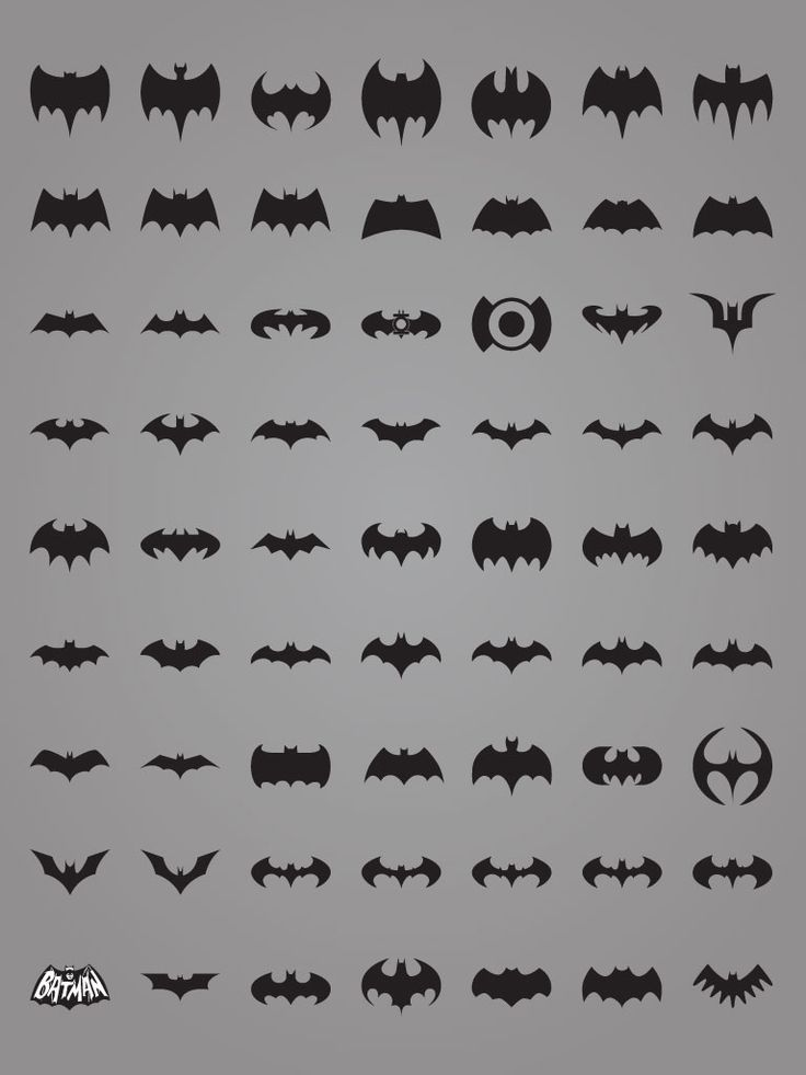 All the many Bat-emblems. I need to whip this out when the boys all want to be Batman. Pick one!
