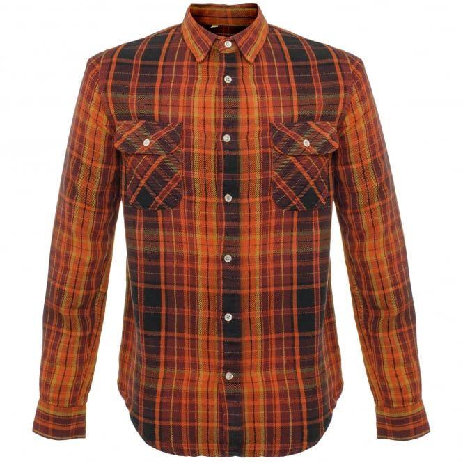 Levi's Vintage Shorthorn Burgundy Flannel Shirt 23863-0005 from Stuarts London