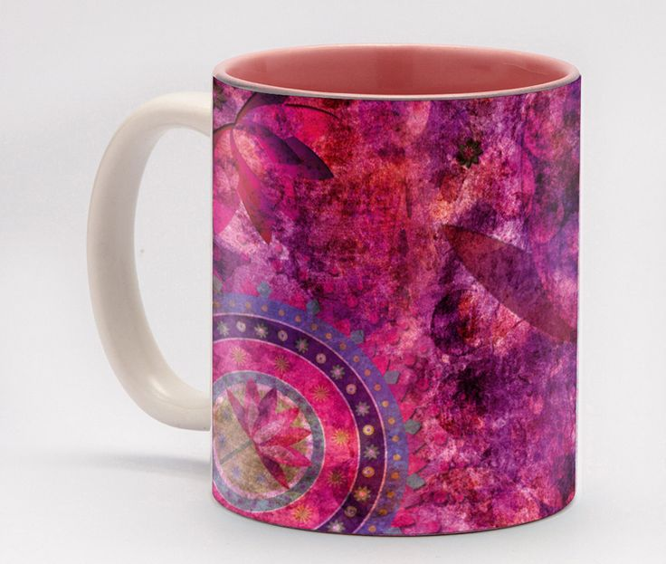 Lotus Mug -Violet is the colour of the crown chakra, which represents cosmic consciousness. The rich hues of pink and purple give this coffee mug a sense of distinguished elegance, allowing you to show the world your unique, refined taste. This pretty pattern also makes a great gift for women of all ages, as it is feminine yet sophisticated.