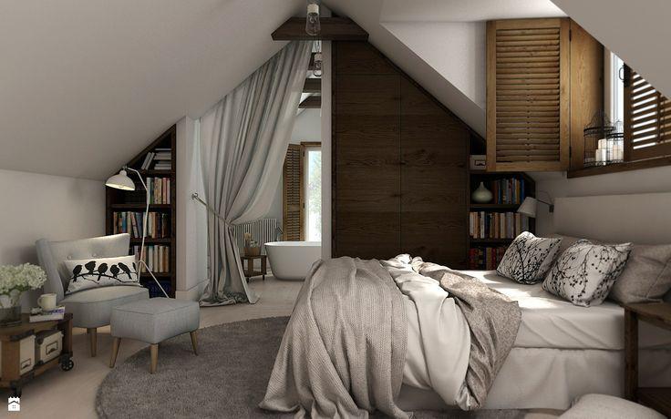 Sypialnia na poddaszu - zdjęcie od WERDHOME - Sypialnia - Styl Skandynawski - WERDHOME