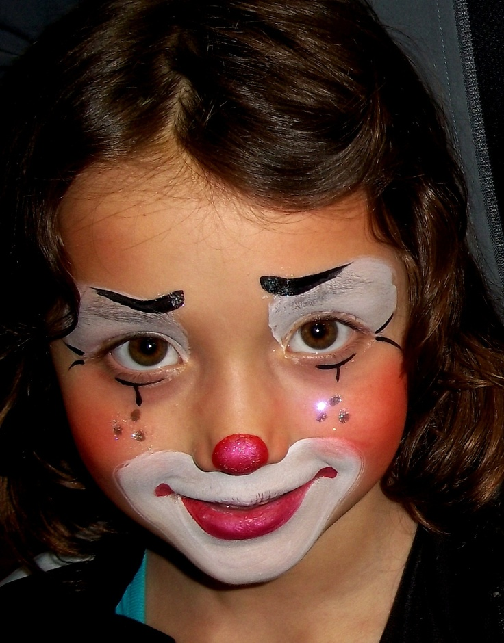 So cute face painting pinterest face face for Face painting clowns for birthday parties