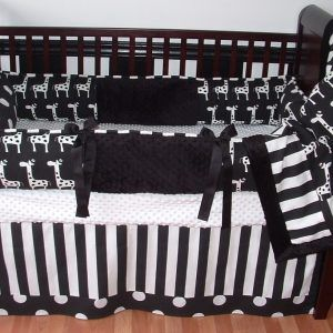 Black White And Red Crib Bedding Sets