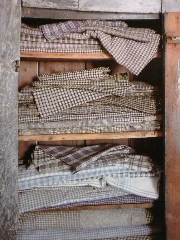 Old fabric...lovely to display...and fabric has so many uses!
