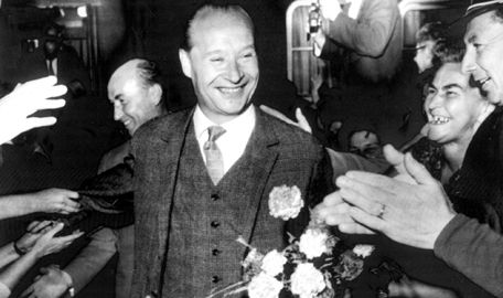 """On Jan. 5, 1968, Alexander Dubcek became first secretary of the Communist Party of Czechoslovakia. He initiated the """"Prague Spring,"""" a period of liberalization in the socialist state that prompted violent Soviet suppression."""