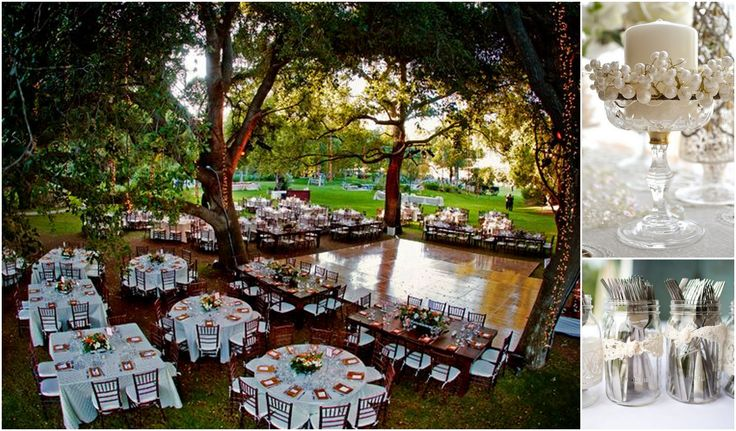 Garden wedding. outdoor setup
