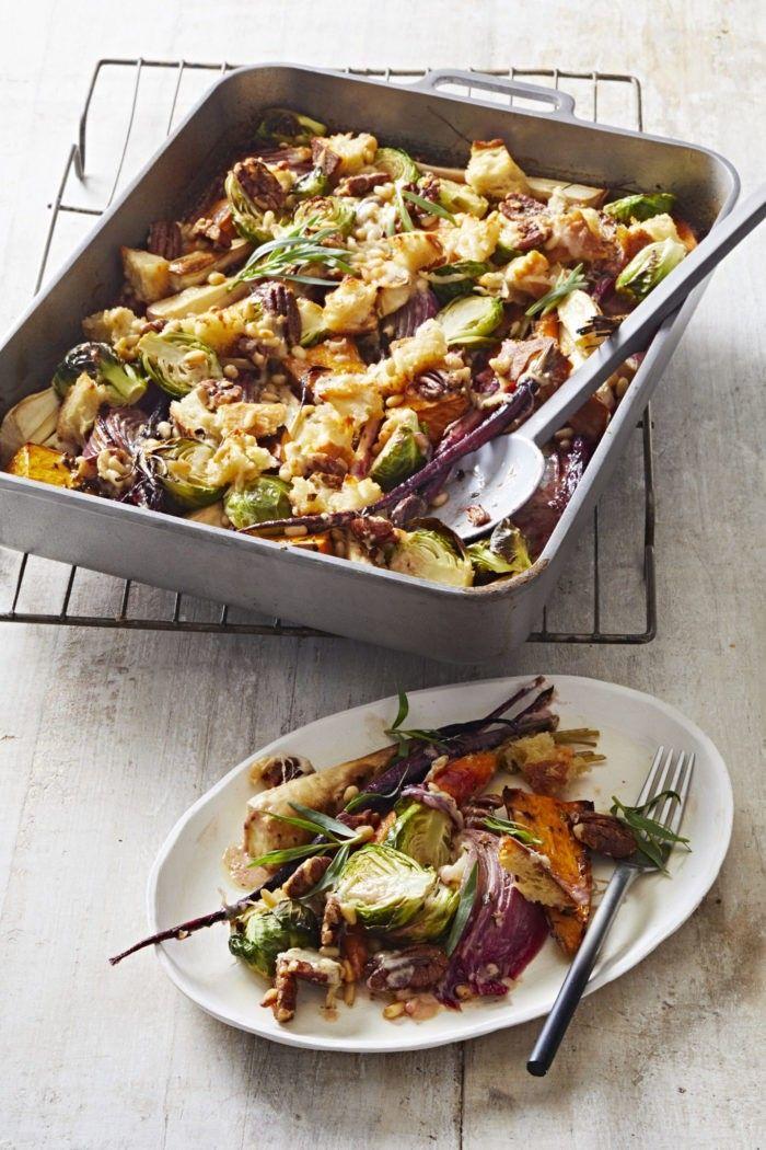 Winter Vegetable & Sourdough Nut Crumble