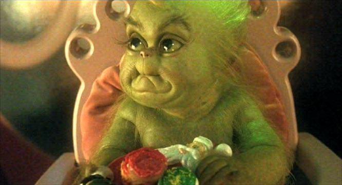 baby grinch! #santabyebye
