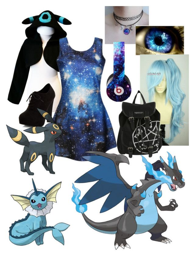 """""""Pokemon set 1# (Luna)"""" by lulu-dusk ❤ liked on Polyvore featuring New Look, Hot Topic and Beats by Dr. Dre"""