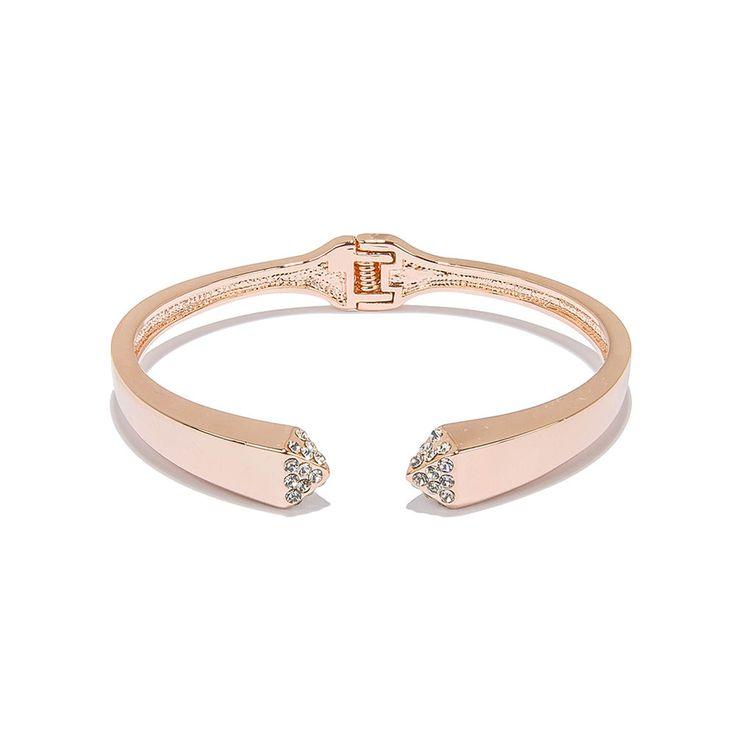 Women Rose Gold Plated Cuff Bracelet Jewelry Adjustable Mouth Charm Buy Costume #TrinketSea #Cuff