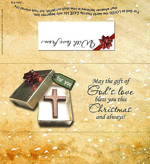 God's Love Christmas Free Printable Candy Bar Wrapper
