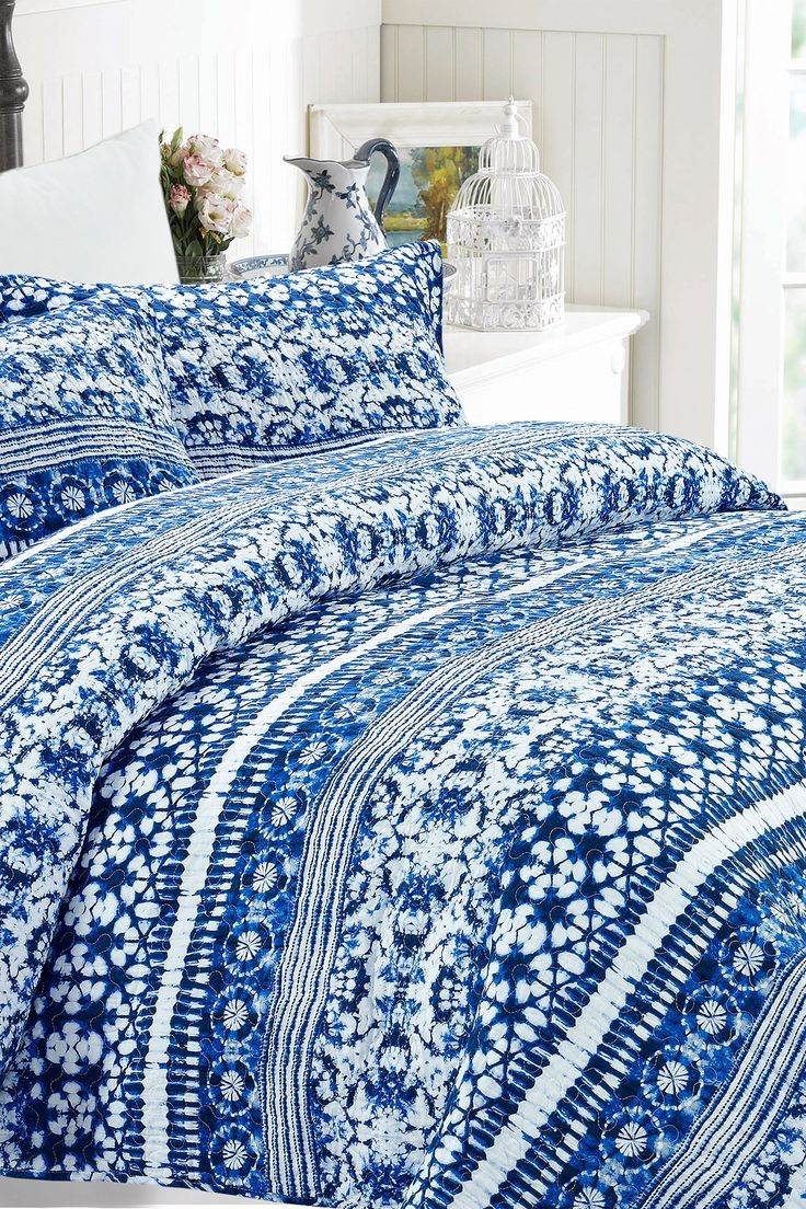 Amora Queen Quilt Set - Dark Blue |   Sponsored by Nordstrom Rack.