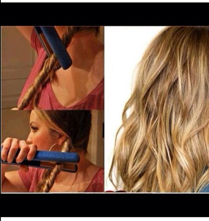 A way to curl your hair with a flat iron