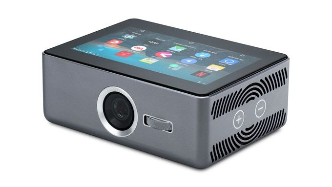 A smart mobile projector that combines the experience of a TV with the mobility of a smartphone.