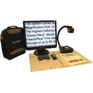 EYE-FLEX Low Vision Display Unit versatile: use it for reading text or multicolor magazines, looking at pictures, or doing hand work such as small repairs, crafts, writing cards & letters, doing crossword puzzles, etc. #lowvision #visionimpaired #accessibility