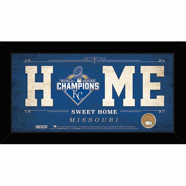 "Steiner Sports Memorabilia Steiner Sports MLB Kansas City Royals 2015 World Series Champions ""Home Sweet Home"" Sign - 10"" x 20"""