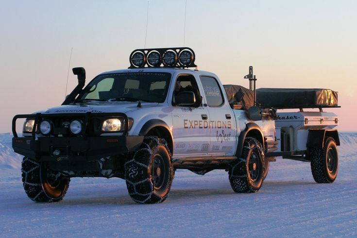 """""""Toyota Tacoma with Snorkel and Tire Chains"""" That is the best description ever, it made me laugh so hard!"""