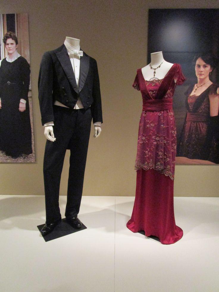 2016-08-26 Taft Museum Downton Abbey Exhibit - Matthew and Mary Crawley's evening costumes (Season 1)