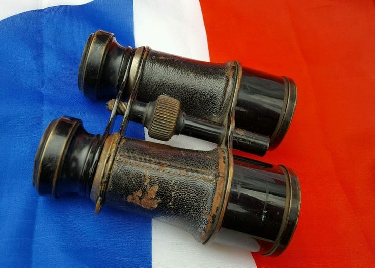 WW1 / Edwardian French Military Binoculars Field Glasses c1900-1920 | eBay