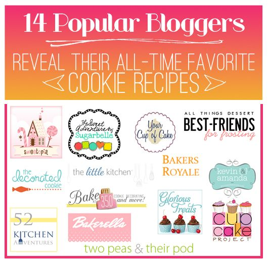 14 Favorite Cookie Recips from 14 Bloggers