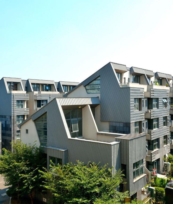 Juli Villas in Shanghai (China) by J+H architects, Contractor: Hanchang Construction Co. Copyright : Huiming Liu #QuartzZinc #China #Zinc #VMZINC #Façade #CollectiveHousing #Architecture #Project
