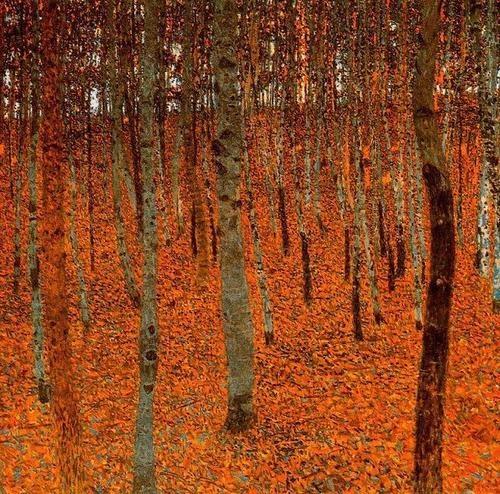 La forêt de bouleaux, vers 1902: Forests, Art, Gustav Klimt, 1902, Forest, Artist, Painting, De Abedules