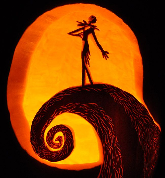 jack and sally pumpkin carving template - photo #36