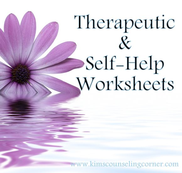 Tons Therapy and Self-Help worksheets! kimscounselingcorner.com