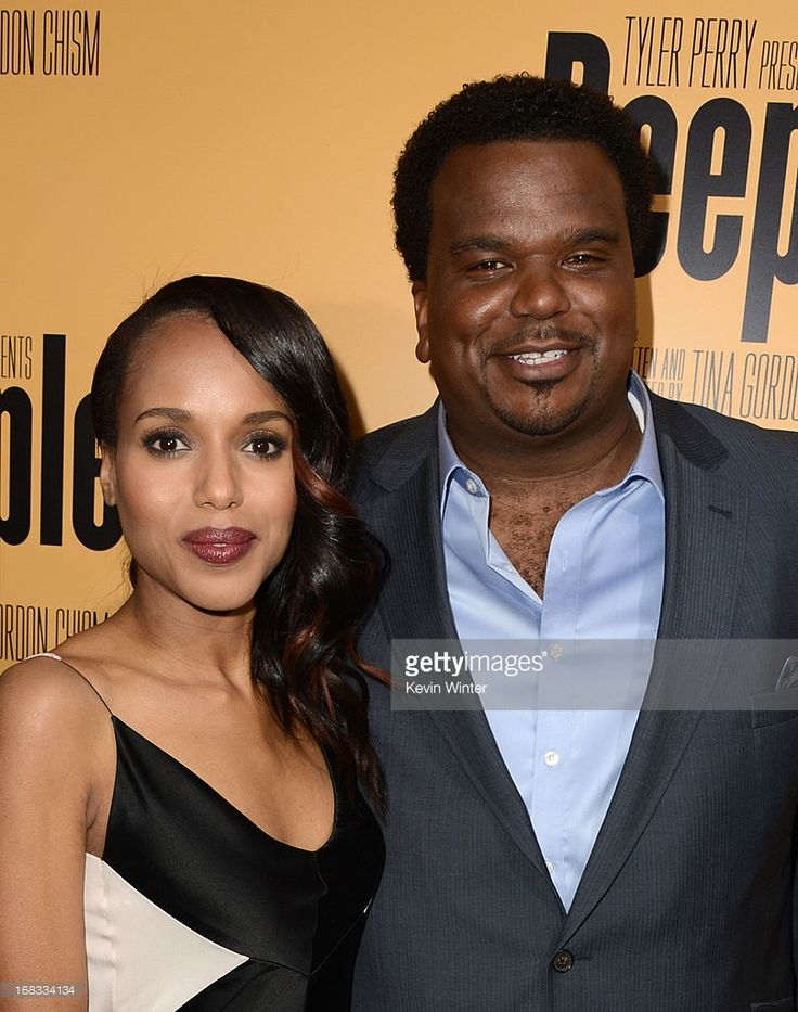 Actors Kerry Washington (L) and Craig Robinson arrive at the premiere of 'Peeples' presented by Lionsgate Film and Tyler Perry at ArcLight Hollywood on May 8, 2013 in Hollywood, California.